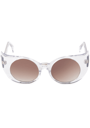 Barn's 'Eye-Liner Frame' sunglasses - White