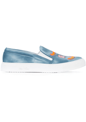 Del Toro Shoes embroidered detail sneakers - Blue