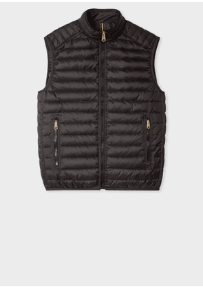 Men's Black Quilted Down Gilet