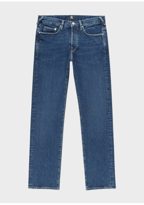 Men's Standard-Fit 'Organic Pepper N Salt' Mid-Wash Denim Jeans