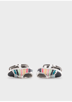 Men's Multi-Colour 'Artist Stripe' Sneaker Cufflinks