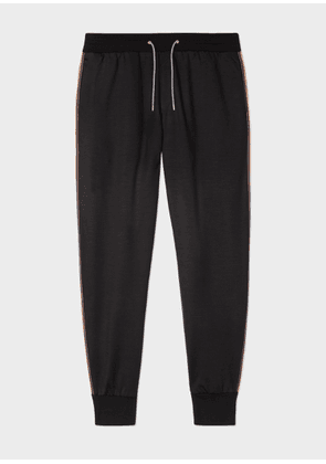 Men's Black 'Artist Stripe' Wool Sweatpants