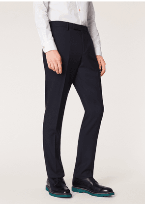 Men's Slim-Fit Navy Wool 'A Suit To Travel In' Trousers