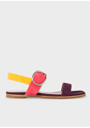 Women's Multi-Coloured Suede 'Rozelle' Sandals