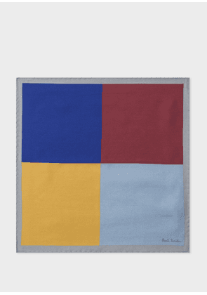 Men's Colour-Block Silk Pocket Square