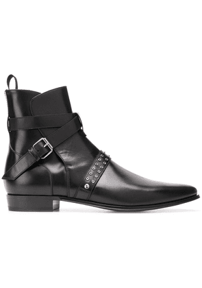 Iro side buckle ankle boots - Black