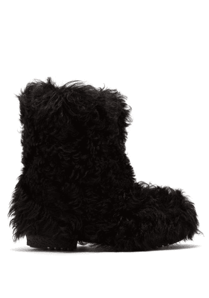 Saint Laurent - Shearling Ankle Boots - Womens - Black
