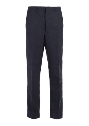Ami - Mid Rise Tapered Leg Wool Trousers - Mens - Navy