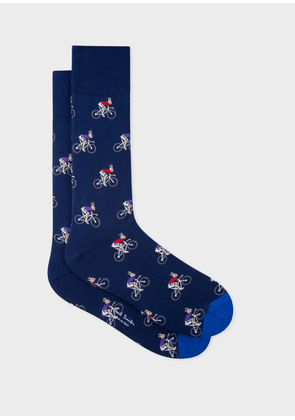 Men's Navy 'Cycling Rabbits' Socks