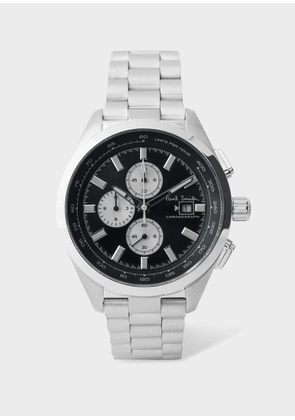 Men's Black And Stainless Steel 'Chrono' Chronograph Watch