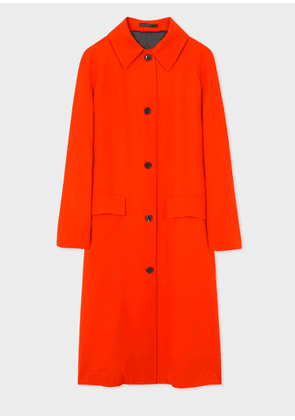 Women's Poppy Red Wool-Blend Coat