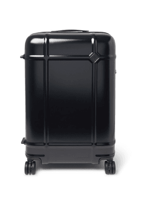 Fabbrica Pelletterie Milano - Globe Spinner 68cm Leather-trimmed Polycarbonate Suitcase - Navy