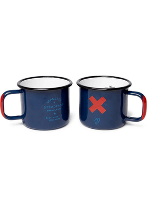 Best Made Company - Set Of Two Enamelled Cups - Navy