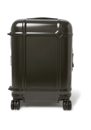 Fabbrica Pelletterie Milano - Globe Spinner 55cm Leather-trimmed Polycarbonate Carry-on Suitcase - Green
