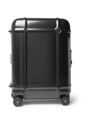 Fabbrica Pelletterie Milano - Globe Spinner 55cm Leather-trimmed Polycarbonate Carry-on Suitcase - Black
