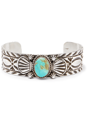 Foundwell - Silver Turquoise Cuff - Silver