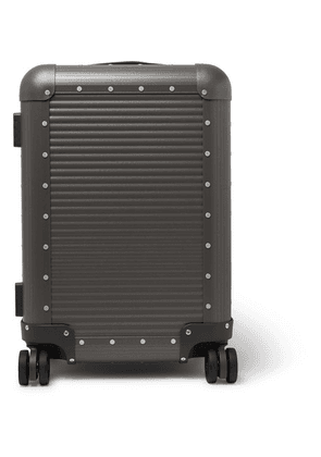 Fabbrica Pelletterie Milano - Spinner 53cm Leather-trimmed Aluminium Carry-on Suitcase - Gray