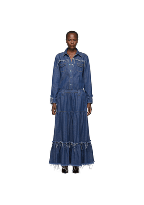 Alanui Blue Denim Dress