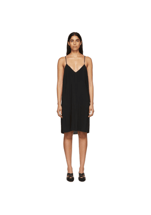 Raquel Allegra Black Simple Slip Dress