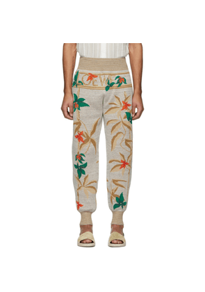 Loewe Grey Flowers Lounge Pants