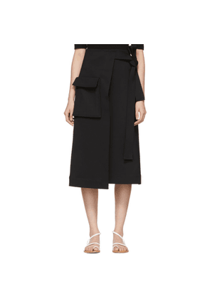 Rosetta Getty Black Wrap Skirt