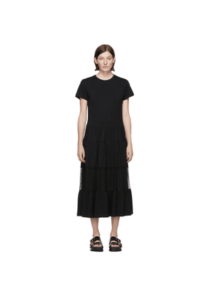 RED Valentino Black Tulle Ruffle Dress