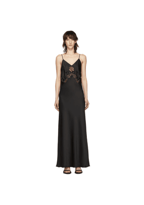 Paco Rabanne Black Satin Lace Dress