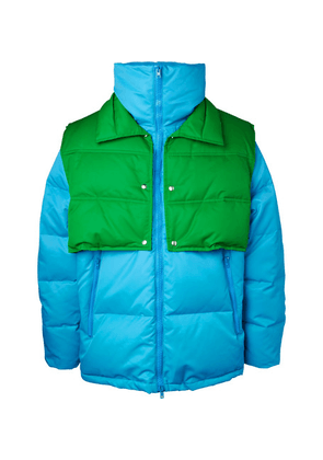 CALVIN KLEIN 205W39NYC - Oversized Quilted Shell Down Jacket With Detachable Gilet - Light blue