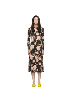 Erdem Black & Pink Nolene Dress