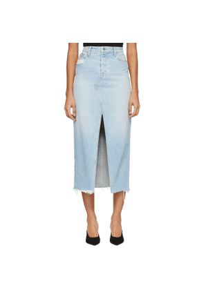 Grlfrnd Blue Denim Isla Skirt