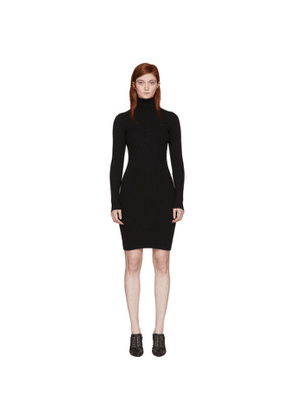 Wolford Black Merino Rib Dress