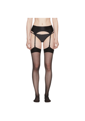 Wolford Black Satin Stocking Belt
