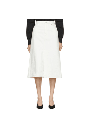 Goldsign White 'The A' Skirt