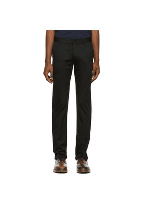 Naked & Famous Denim Black Stretch Chino Trousers