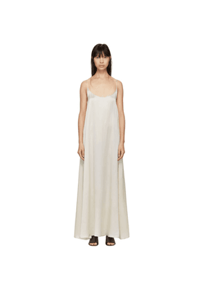 Mansur Gavriel White Silk Flowy Dress