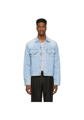 Christian Dada Blue Denim Akarai Print Jacket