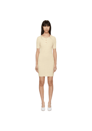 Mansur Gavriel Beige Ribbed Dress