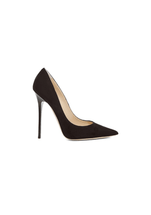 Jimmy Choo Anouk 120 Suede Pumps in Black