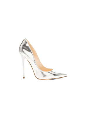 Jimmy Choo Anouk 120 Mirror Leather Pumps in Metallic Silver