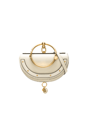 Chloe Small Nile Leather Minaudiere in Neutral