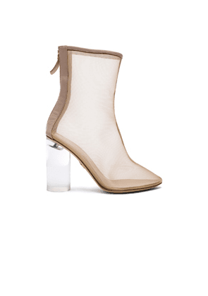 Brother Vellies Mesh Bianca Boots in Neutrals