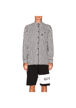 Givenchy Striped Shirt in Black,Stripes,White