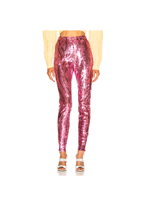 ATTICO Fay Sequined Pants in Pink