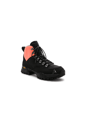 Alyx Lace Up Hiking Boot in Black,Orange