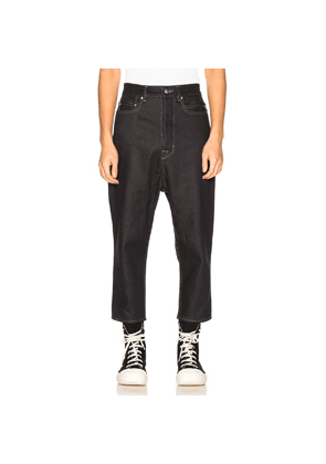 Rick Owens Collapse Jean in Black