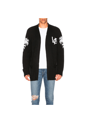 Adaptation Los Angeles Cashmere Cardigan in Black,White