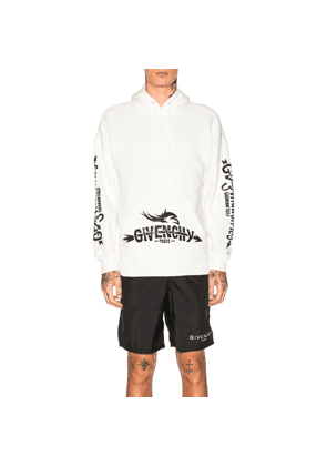 Givenchy Logo Hoodie in White