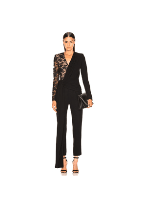 Givenchy Lace Jumpsuit in Black