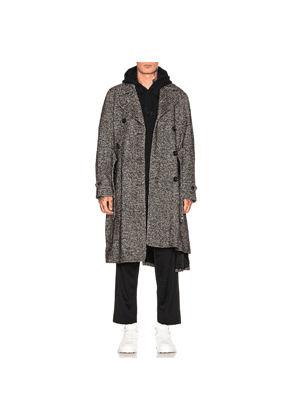 Comme Des Garcons Homme Plus Acrylic Trench in Black,White