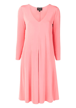 9edc71d6013d giorgio-armani-flared-v-neck-dress-pink-farfetch-com-photo.jpg